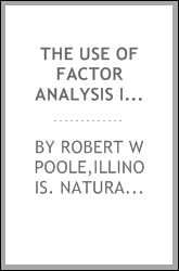 The use of factor analysis in modeling natural communities of plants and animals