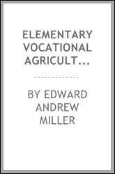 Elementary vocational agriculture for Maryland schools