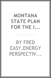 Montana state plan for the Institutional Buildings Grant Program