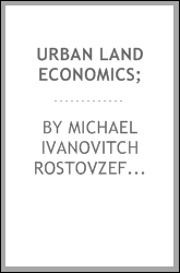 Urban land economics;