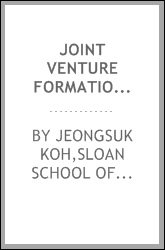 Joint venture formation as an administrative innovation in the information technology sector : a diffusion perspective