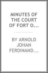 Minutes of the Court of Fort Orange and Beverwyck, 1652-1656