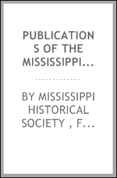 download Publications of the Mississippi Historical Society book
