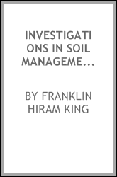 download Investigations in Soil Management: Being Three of Six Papers on the ... book