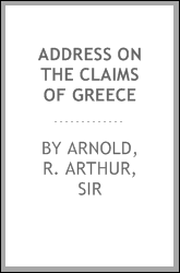 Address on the claims of Greece