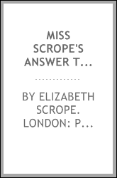 download Miss Scrope's Answer to Mr. Cresswell's Narrative. book