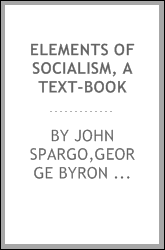 Elements of socialism, a text-book