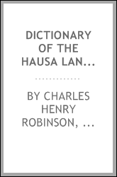 download Dictionary of the Hausa Language book
