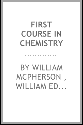 download First Course in Chemistry book