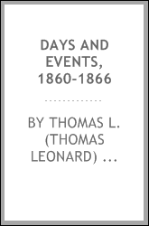 Days and events, 1860-1866
