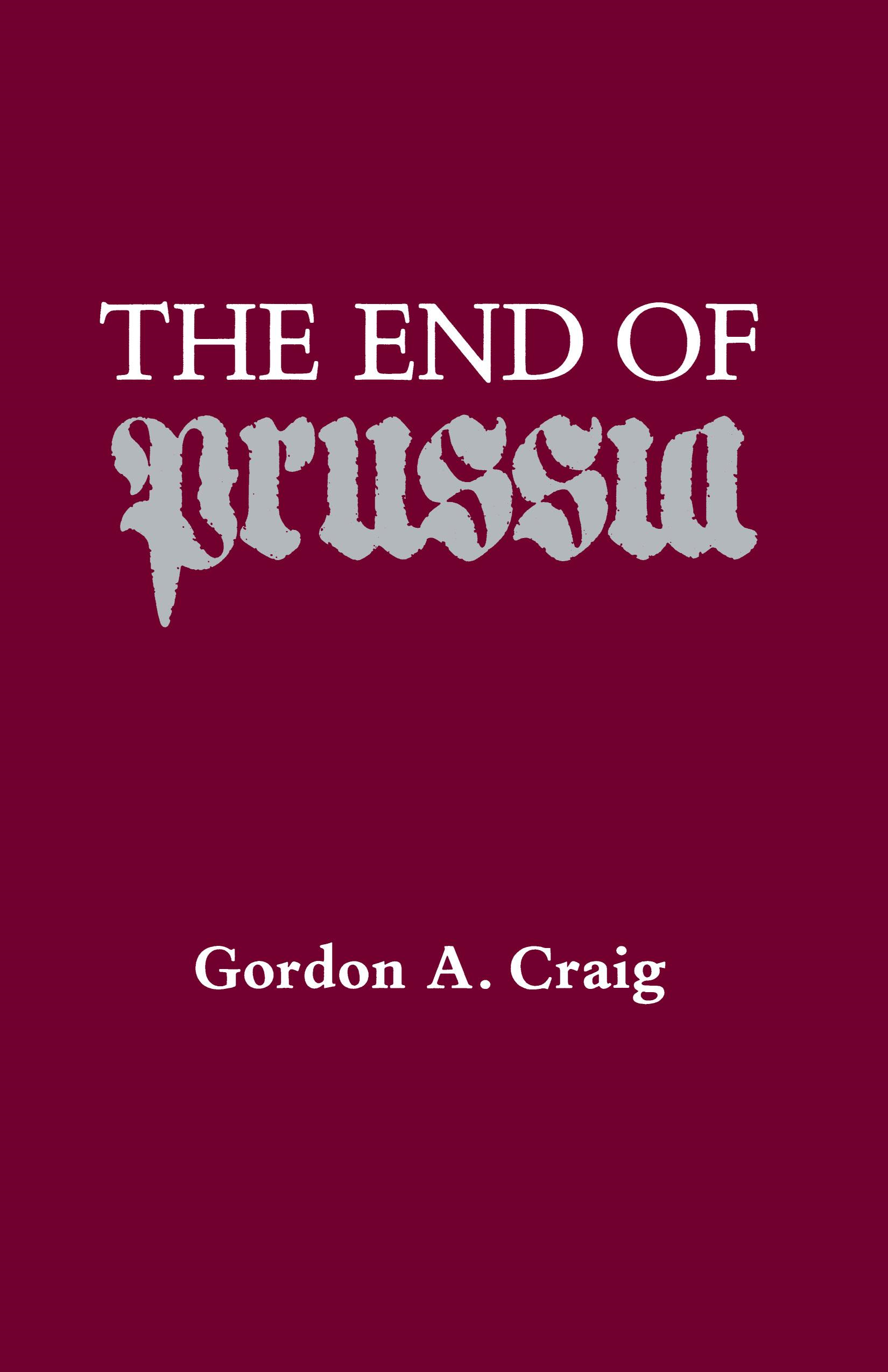 The End Of Prussia