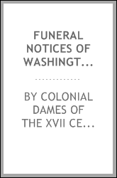 Funeral notices of Washington County, Indiana