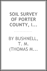 Soil survey of Porter County, Indiana