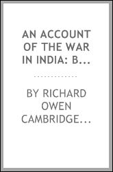 An Account of the War in India: Between the English and French, on the Coast ...