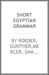 Short Egyptian grammar