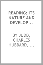 Reading: its nature and development