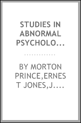 STUDIES IN ABNORMAL PSYCHOLOGY SERIES FOUR