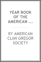 download year book of the american <b>clan</b> gregor society, containi