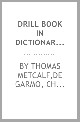 Drill book in dictionary work