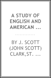 A study of English and American poets; a laboratory method