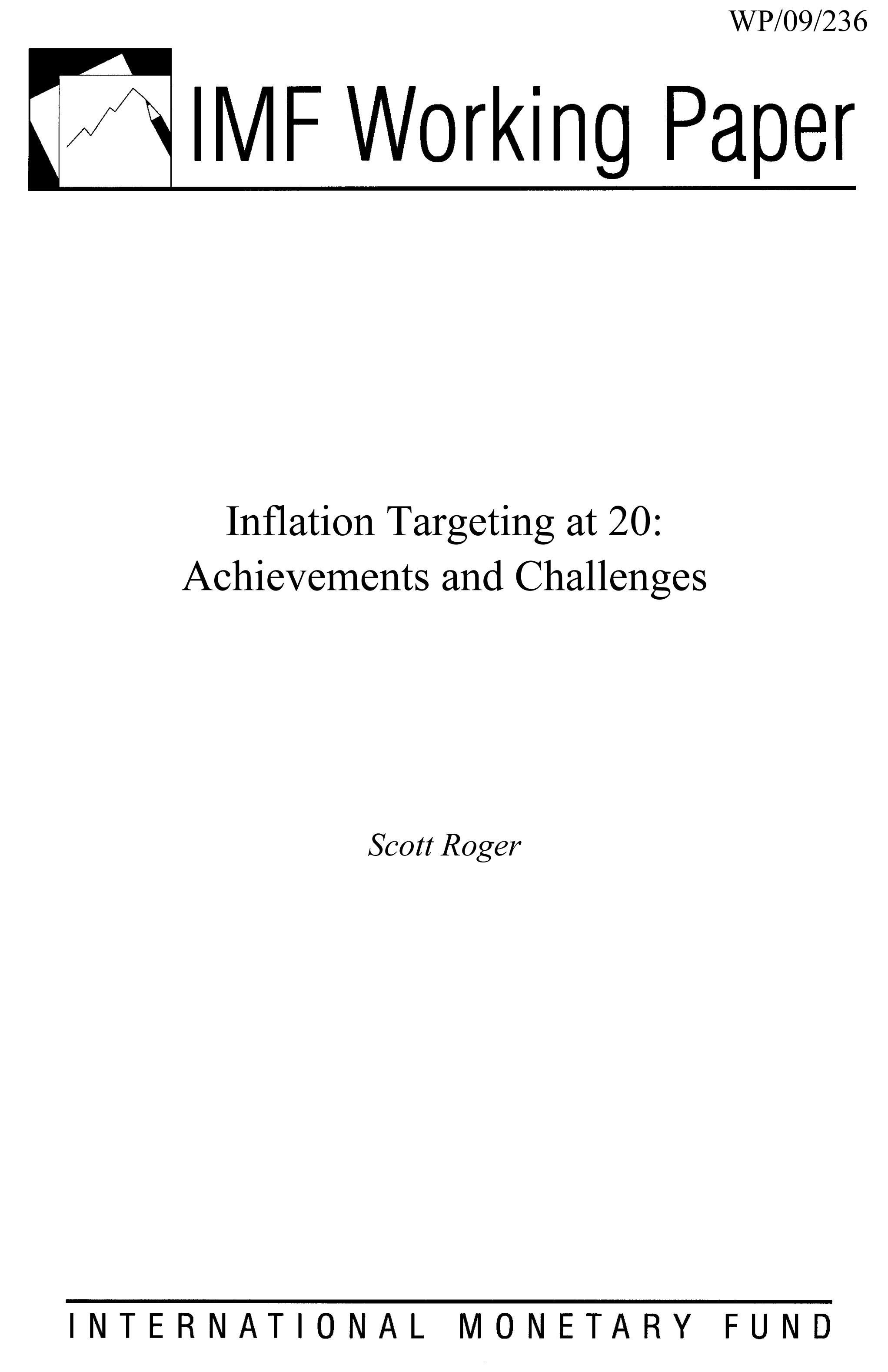 Inflation Targeting at 20: Achievements and Challenges