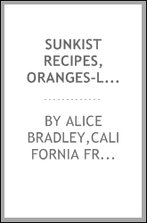 Sunkist recipes, oranges-lemons