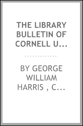 The Library Bulletin of Cornell University
