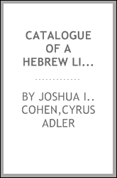 Catalogue of a Hebrew library;