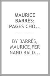 Maurice Barrès; pages choisies