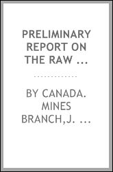 Preliminary report on the raw materials, manufacture and uses of hydraulic cements in Manitoba