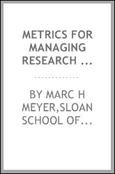 Metrics for managing research and development