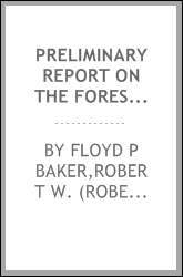 Preliminary report on the forestry of the Mississippi Valley