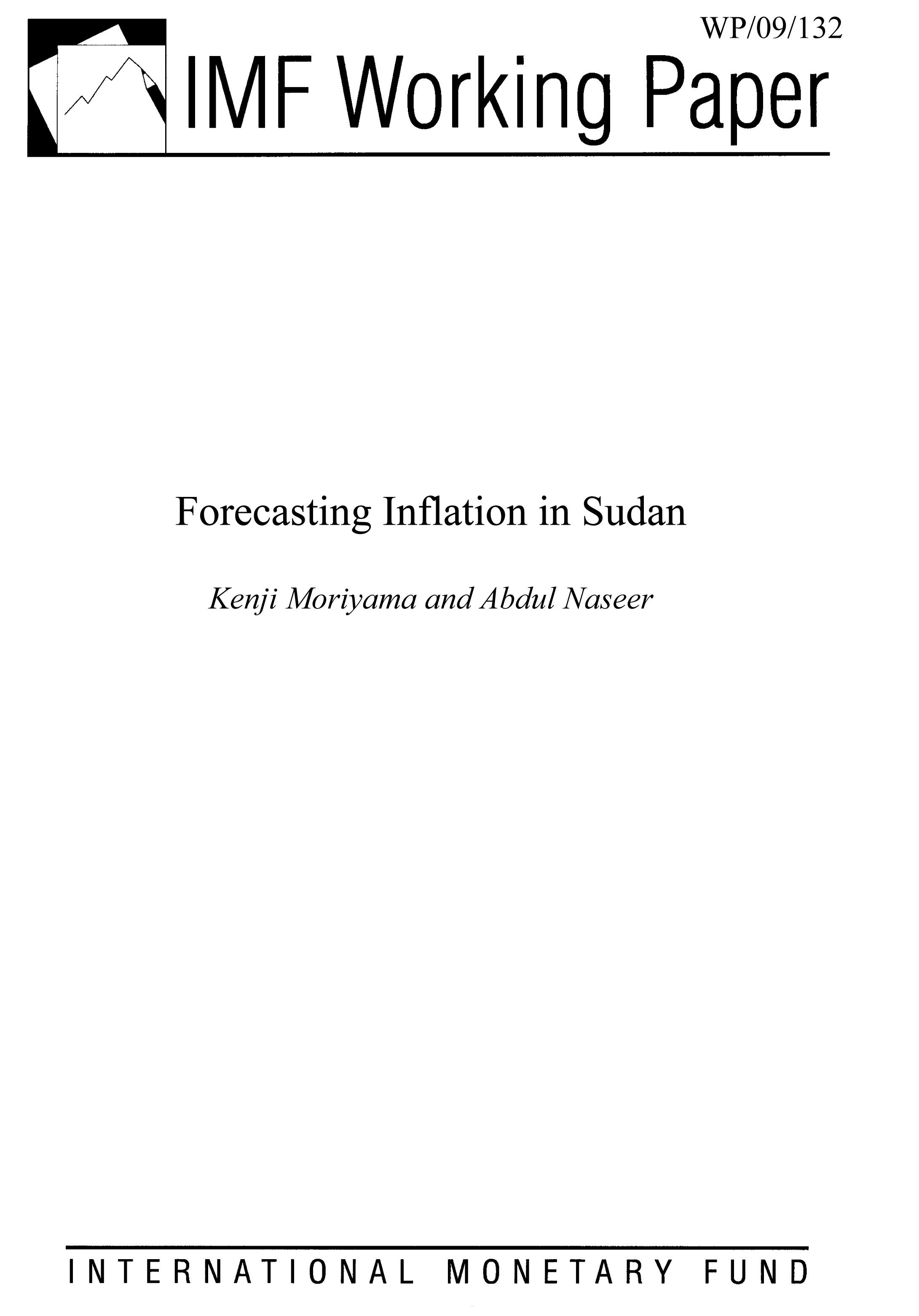Forecasting Inflation in Sudan