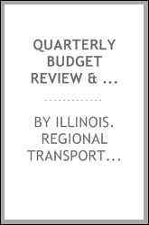download Quarterly budget review & financial report book