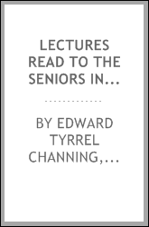 Lectures read to the seniors in Harvard college