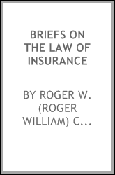 Briefs on the law of insurance