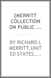 [Merritt collection on public opinion in Germany] [microform]