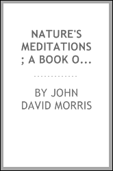 Nature's meditations; a book of verses