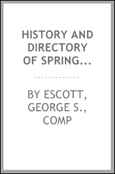 download History and directory of Springfield and North Springfield book