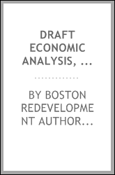 Draft economic analysis, east Boston gnrp area