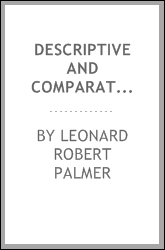 Descriptive and comparative linguistics: a critical introduction