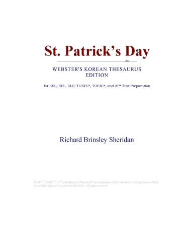download St. Patrick���s Day (Webster's Korean Thesaurus Edition) book