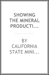 Showing the mineral production of California for 14-24 years