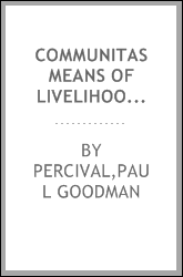 Communitas Means Of Livelihood And Ways Of Life
