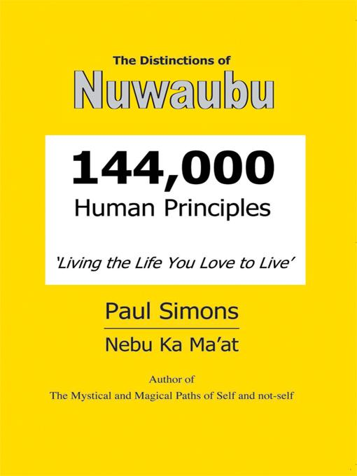Distinctions of Nuwaubu, 144,000 Human Principles
