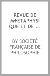 download Revue de m�etaphysique et de morale book