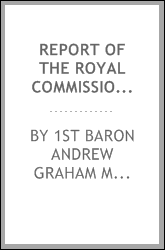 Report of the Royal Commission on Trade Disputes and Trade Commission: with ...