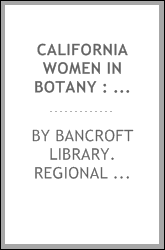 California women in botany : oral history transcript / 1985