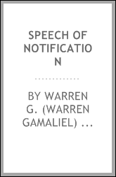 Speech of notification