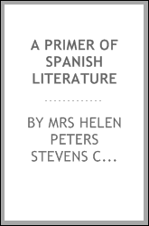 A Primer of Spanish Literature